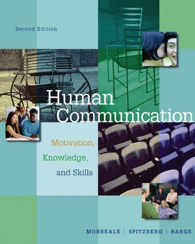 Aie-Human Communication Motivation, Knowledge and Skills 2nd 2007 9780495092469 Front Cover