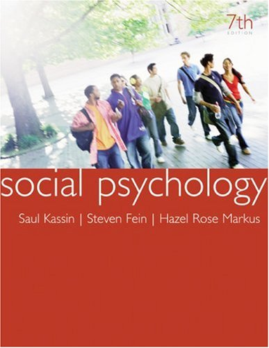 Social Psychology  7th 2008 edition cover