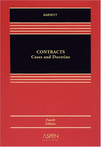 Contracts Cases and Doctrine 4th 2008 (Revised) edition cover
