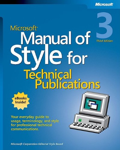 Microsoft Manual of Style for Technical Publications  3rd 2003 (Revised) edition cover