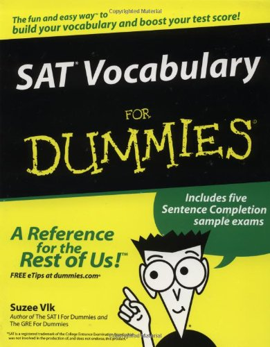 SAT* Vocabulary for Dummies�   2003 edition cover