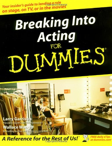 Breaking into Acting for Dummies�   2002 edition cover