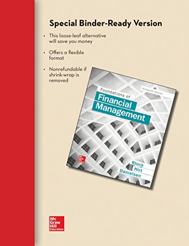 Foundations of Financial Management:   2016 9781259666469 Front Cover