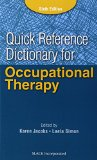 Quick Reference Dictionary for Occupational Therapy  6th 2014 edition cover