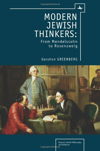 Modern Jewish Thinkers From Mendelssohn to Rosenzweig  2011 edition cover