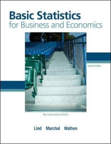 Basic Statistics for Business and Economics with Formula Card  7th 2011 edition cover