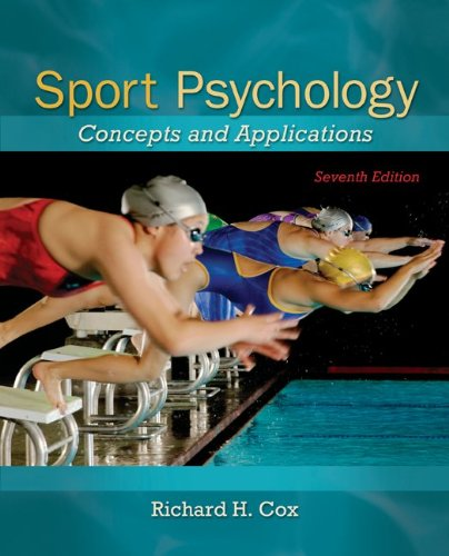 Sport Psychology Concepts and Applications 7th 2012 edition cover