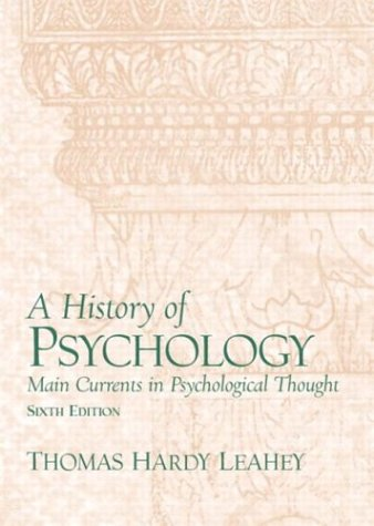 History of Psychology  6th 2012 edition cover