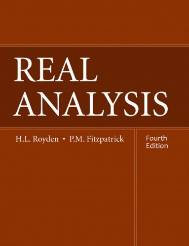 Real Analysis  4th 2010 (Revised) 9780131437470 Front Cover
