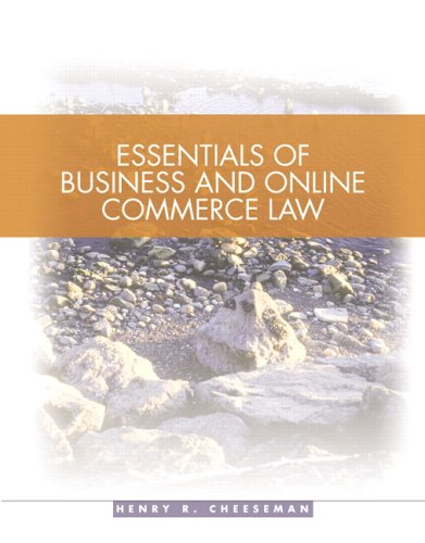 Essentials of Business Law   2006 edition cover
