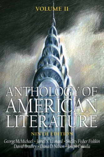 Anthology of American Literature  9th 2007 edition cover