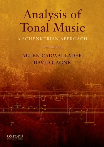 Analysis of Tonal Music A Schenkerian Approach 3rd 2011 edition cover