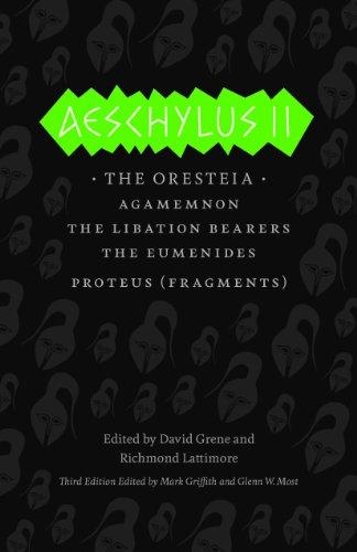 Aeschylus II The Oresteia 3rd 2012 edition cover