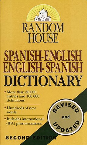 Random House Spanish-English English-Spanish Dictionary  2nd 1996 edition cover