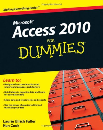 Access 2010 for Dummies�   2010 edition cover