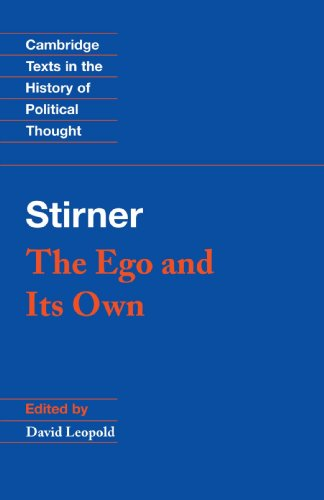 Stirner The Ego and Its Own  1995 edition cover