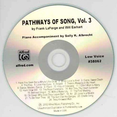 Pathways of Song: Low Voice  2012 edition cover