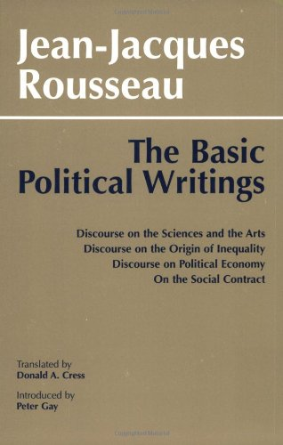 Basic Political Writings Discourse on the Sciences and the Arts  1987 edition cover