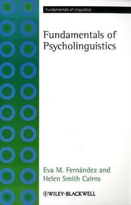 Fundamentals of Psycholinguistics   2010 edition cover