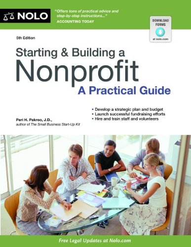 Starting and Building a Nonprofit A Practical Guide 5th 2013 edition cover