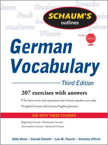 German Vocabulary 207 Excercises with Answers 3rd 2009 edition cover