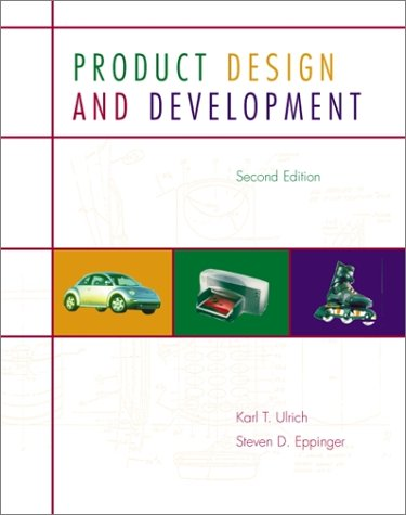 Product Design and Development  2nd 2000 edition cover