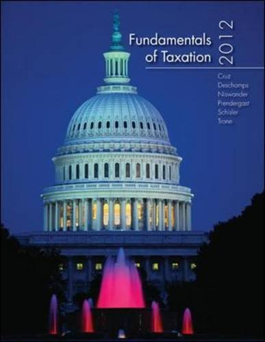 Fundamentals of Taxation 2012   2012 edition cover