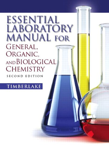 Essential Laboratory Manual for General, Organic and Biological Chemistry  2nd 2011 edition cover
