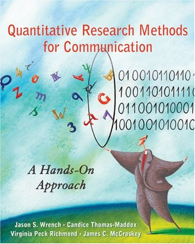 Quantitative Research Methods for Communication A Hands-On Approach  2008 edition cover