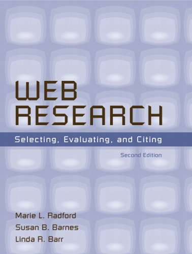Web Research Selecting, Evaluating, and Citing 2nd 2006 (Revised) edition cover