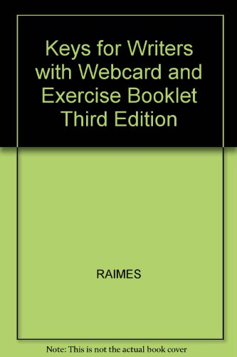 Keys for Writers : With Webcard and Exercise Booklet 3rd 2002 9780618173471 Front Cover