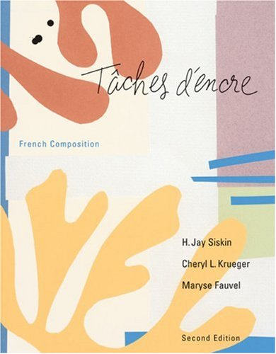 Taches D'Encre French Composition 2nd 2004 edition cover
