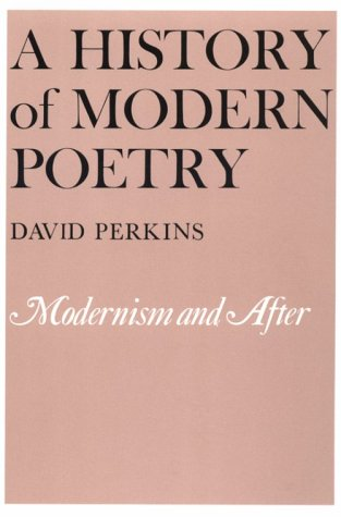 History of Modern Poetry Modernism and After  1987 edition cover