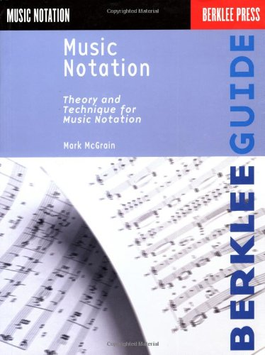 Music Notation Theory and Technique for Music Notation  1986 edition cover