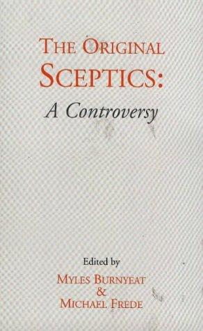 Original Sceptics A Controversy  1996 edition cover
