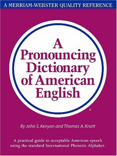 Pronouncing Dictionary of American English   1953 edition cover