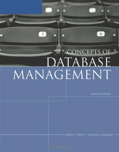 Concepts of Database Management  6th 2008 (Revised) 9781423901471 Front Cover