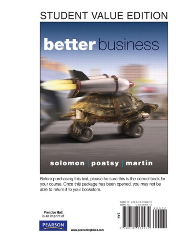 Better Business, Student Value Edition  2010 9780132139472 Front Cover