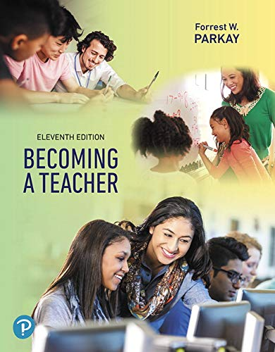 Becoming a Teacher  11th 2019 9780135167472 Front Cover