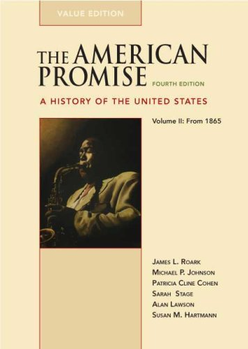 American Promise A History of the United States from 1865 4th edition cover