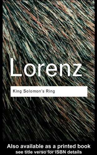 King Solomon's Ring  2nd 2002 (Revised) 9780415267472 Front Cover