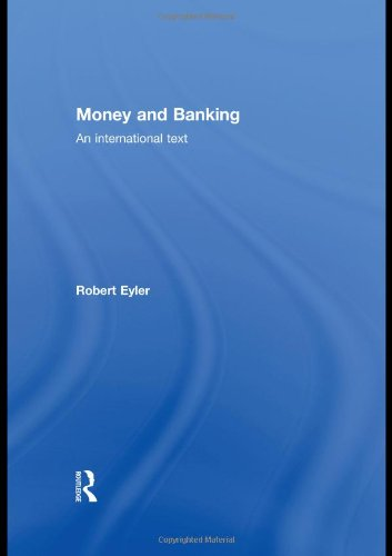 Money and Banking An International Text  2010 edition cover