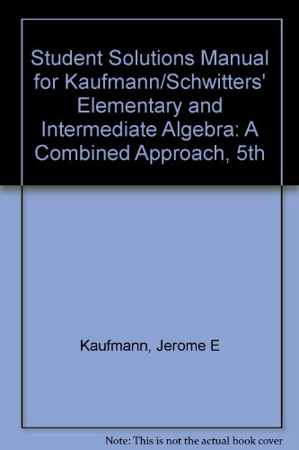 Elementary and Intermediate Algebra A Combined Approach 5th 2009 9780495553472 Front Cover