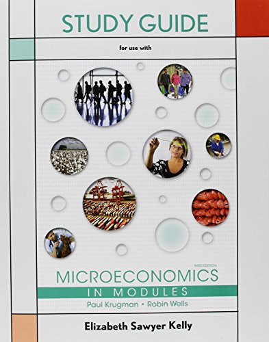 Study Guide for Microeconomics in Modules  3rd 2014 edition cover
