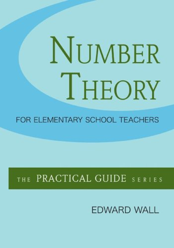 Number Theory for Elementary School Teachers   2010 edition cover