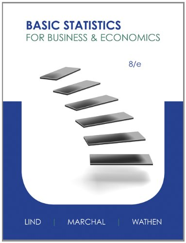 Basic Statistics for Business and Economics  8th 2013 9780073521473 Front Cover
