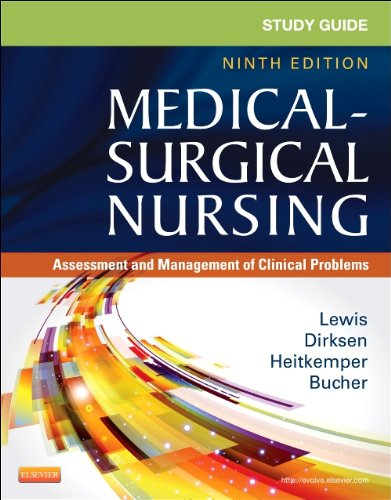 Study Guide for Medical-Surgical Nursing Assessment and Management of Clinical Problems 9th 2014 9780323091473 Front Cover