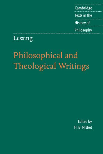 Lessing Philosophical and Theological Writings  2005 9780521538473 Front Cover