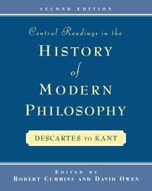 Central Readings in the History of Modern Philosophy  2nd 1999 (Revised) 9780534523473 Front Cover