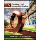 Student Solutions Manual for Tussy/Gustafson's Elementary and Intermediate Algebra, 5th  5th 2013 edition cover